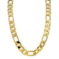 18k gold plated 12mm Figaro Necklace £24.95