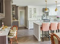 Gray & white kitchen Caitlin Wilson's Kitchen via Rue