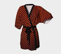 Red banded Kimono Robe / Silk Kimono / Japanese Kimono women / Japanese Kimono Robe / Kimono Dress / Vintage Kimono Robe / Kimono Gown $80.00