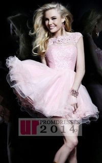 Backless Pink Beaded Lace Party Dress With Tiered Tulle