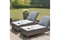 Buy Victoria Sunlounger Set In Very Cheap Price  The Victoria Sunlounger Set is composed by 2 x Adjustable Sunloungers and Coffee Table with Glass The highest quality materials and fully weatherproof rattan is what is used to make all of our product ran...