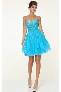 Distinctive Sleeveless Sweetheart Chiffon A-line Party Dresses