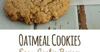 If you are looking for easy cookie recipes look no further, I have the perfect recipe for you! Chewy Oatmeal Cookies are delicious and is easy to make too!
