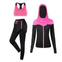 JINXIUSHIRT Sport Suits Women's Fitness Yoga Set Running Sportswear Tights Training Jogging Suit Gym Sports Clothes Set 3 Pics $40.69