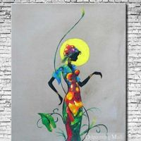 Moonlight Dancer Abstract Oil Painting Hand Painted On Canvas