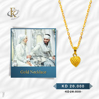 Classic and striking, these gold necklace present a beautiful shine and design. 
