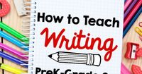 Check out these FREE writing lessons from two experienced teachers - you'll find resources for teaching writing in preschool, kindergarten, first, and second grade!