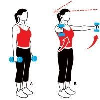 Work those arms! Try this move: Standing V-Raise...use a 5-to-8-pound dumbbell and do 12 to 15 reps. More moves here: http://www.womenshealthmag.com/fitness/arms-workout