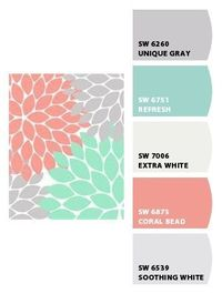 Nursery Colors: Grey, Soft Coral, Aqua (Or Soft Teal or Turquoise) Grey and White. Sherwin-Williams Paint Chip It! is now part of ColorSnap by Sherwin-Williams Paint