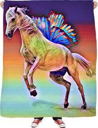 Fantasy Horse Fleece Blanket $65.00