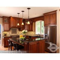 Kitchen Remodeling, Renovation SEEMS CHERRY NOT TOO RED IS OKAY MATCH WITH DARK COUNTER LIKE MINE