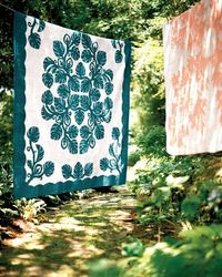 Give your rooms a tropical touch with fabric projects borrowed from Hawaii's celebrated quilting tradition.