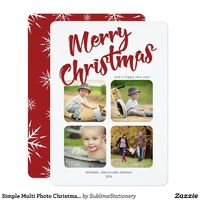 Simple Multi Photo Christmas Flat Card