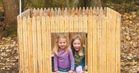 """By adding a backyard fort, you can let your kids' imaginations run wild. The design of this fort encourages tons of fun, with a super�€""""cool kid-sized hatch�€""""complete with a peephole to check out visitors�€""""and a flag..."""