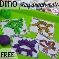 Dinosaur freebies plus tons of dinosaur themed activities & centers (math, literacy, science, & more) your preschool, pre-k, & kindergarten students will love!