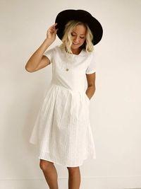 Cute Sammi Stripe Dress in White