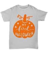 My first halloween halloween dark unisex t-shirt $25.95