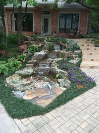 We offer (Disappearing) Pondless Waterfall Design, Installation, Repair, & Maintenance Services for Oklahoma City including the Edmond, Nichols Hills, Yukon, Mo