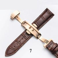 Genuine Leather Watchband With Butterfly Clasp for Tissot, Fossil $9.00