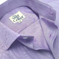 Lavender Herringbone 2 Ply Premium Giza Cotton Regular Fit Shirt �'�1999.00