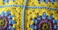 crochet blanket -- this is one of my favorite ways to connect the squares.