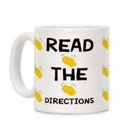 Read The Directions Clap Emoji Ceramic Coffee Mug $14.99 �œ� Handcrafted in USA! �œ� Support American Artisans