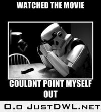 Star Wars - it makes me feel bad for him!