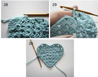 How to Crochet a Granny Heart - Tutorial =) Thanks for pinning xox