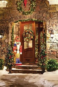 The wreaths and garlands are a lovely backdrop for our cheery nutcracker figure. We have everything you need to create this warm and whimsical look for your front door�€� or any other holiday style you can imagine. Chick through to explore the possi...