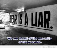 Fear quote and messasge