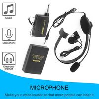 Bakeey VHF Stage Wireless Lavalier Lapel Headset Microphone Mic FM Transmitter Bodypack Transmiter