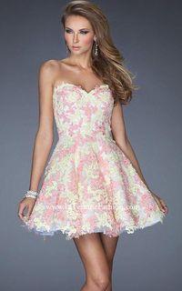Pink Short La Femme 20247 Lemon Cocktail Prom Dress