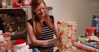 So simple I don't know why I never thought of this! How to wrap an awkward shaped present