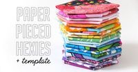 How To: Paper Pieced Hexies + Template