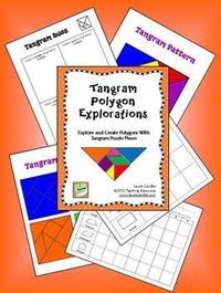 FREE Tangram Polygon Explorations - Brand new freebie from Laura Candler - includes tangram patterns and polygon challenge activities