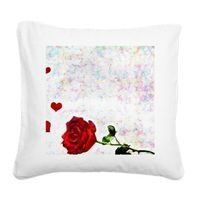 heart and rose pillow
