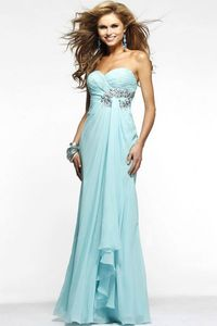 Curve-Enhancing Sleeveless A-Line Ruffles Beaded Long Chiffon Affordable Homecoming Dresses