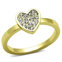 LO3983 Flash Gold Brass Ring with Top Grade $29.95
