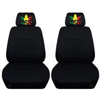 Front Bucket Seat Covers Black Color Insert Fits a 2012 to 2018 Dodge Ram 1500, 2500, or 3500 420 Design Ebroidered on Headrest Covers $89.99
