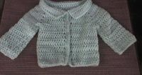 crochet newborn sweater for boys free pattern | my friend amy needed a newborns cardigan pattern and i had just ...