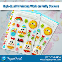 High-Quality Printing Work on Puffy Stickers - RegaloPrint
