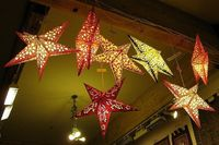 I went out with a friend to the Castro and found these paper star lanterns in a store (I forgot its name). The store owner gave me permission to photograph them