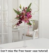 Tall Vases - learn how to make your own and save money