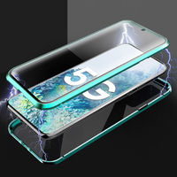 Bakeey 360º Curved Magnetic Flip Double-sided 9H Tempered Glass Metal Full Body Protective Case for Samsung Galaxy S20 / Galaxy S20 5G 2020