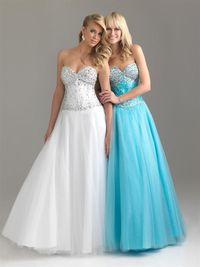 2014 Long Beaded Corset Prom Gown Dresses Sale