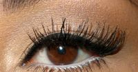 silver liner on lower lashes!