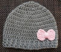 Girl beanie/ Baby Girl Hat with Bow