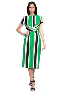 Stripe Twist Front Dress $24.50