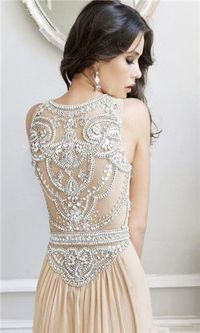 Gatsby-Inspired Wedding Dress Back Detail