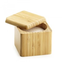Bamboo Salt Box from Fuller.  The best way to keep your salt and other spices dry and fresh in our 100% bamboo made salt box.The lid easily slides open for easy access while doing cooking chores in Kitchen or at dinning table.For more info,please vi...
